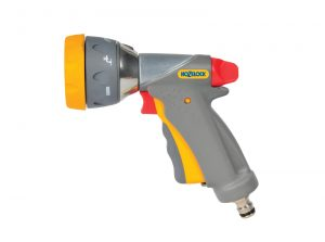 Hozelock Multi Spray Gun Pro 8 function spray gun with easy trigger and soft grip.