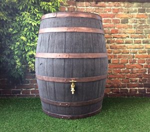 Jacobean Dark Oak Hogshead Ale Barrel With Brass Tap